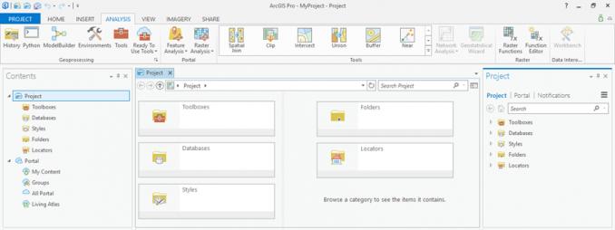 arcgis pro user interface
