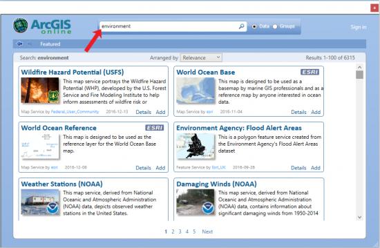 arcgis online data
