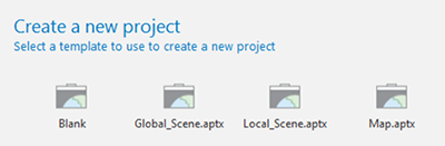 arcgis projects, local and global scenes