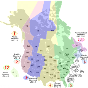 North America Time Zones